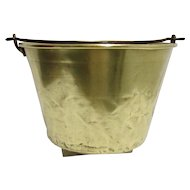 Brass Kettle, Pail, Bucket or Pot American Brass Kettle Co. No.5 Cooking Pot