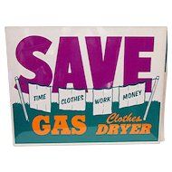 Appliance Store Advertising Sign for Gas Clothes Dryer