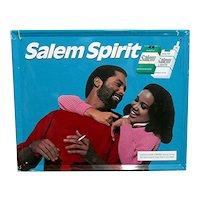 Original African American Salem Cigarette Metal Advertising Sign