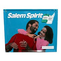 Original African American Salem Cigarette Advertising Sign