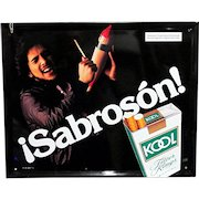 Original Latino Kool Cigarette Advertising Sign