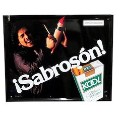 Original Latino Kool Cigarette Advertising Sign