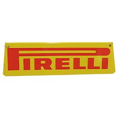 SOLD    Original Metal Automotive Advertising Sign For Pirelli
