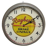 Automotive Advertising Clock for Raybestos Brake Linings of Bridgeport Connecticut