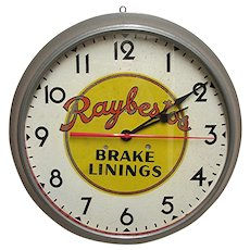 SOLD August 2019 Advertising Automotive Clock for Raybestos Of Bridgeport Connecticut