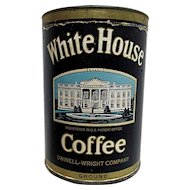 White House Coffee Advertising Tin