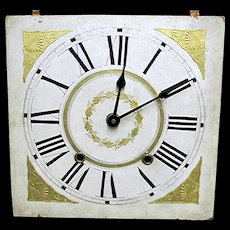 1835 Wood Clock Dial Functional Timepiece