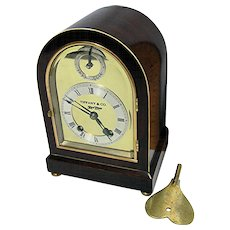 Rare Miniature Tiffany 11 Jewel Chiming Mantel Clock