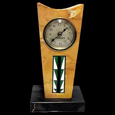 SOLD   Antique French  Marble Clock Retailed by Tiffany