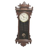 E. N. Welch Eclipse Calendar Regulator Wall Clock