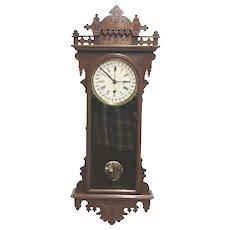 E. N. Welch Eclipse Calendar Regulator Wall Clock