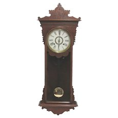 E.N. Welch Sembrich Antique Wall Clock