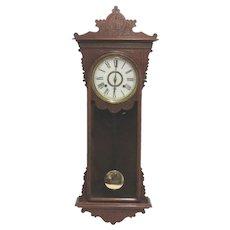 E.N. Welch Sembrich Antique Wall Clock