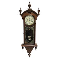 Antique American Chiming New Haven Wall Clock