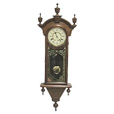 Antique New Haven Wall Clock Winnipeg Model 100% Original fully Restored