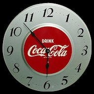 Original Metal Coca Cola Advertising Clock