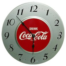 Original Metal Coca Cola Advertising Clock