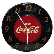 Maroon Coca Cola Advertising Clock