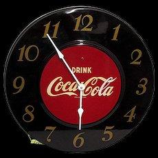 Maroon Coca Cola Advertising Clock