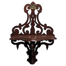 Sold  See other Shelves Available   American Victorian Walnut Shelf