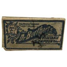 Drugstore or Pharmacy Dr. Burkhart's Vegetable Compound Box   $12