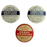 Derma Medicone Physicians Sample and Two Dressing Tins