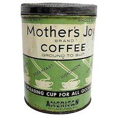 Advertising Coffee Tin Mothers Joy