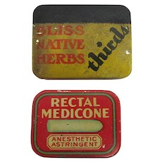 Tins Pocket  or Purse Medicinal Advertising Tins
