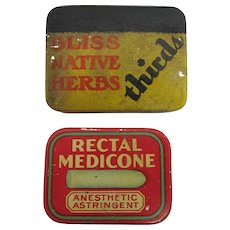 Pocket  or Purse Medicinal Tins