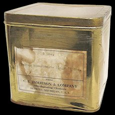 Sodium Bicarbonate 5 Pound Pharmacy Advertising Tin