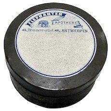 Large Round Pharmacy Advertising Tin