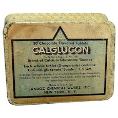 Medical Advertising Tin Chocolate Flavored Calcium Tablets Pharmacy