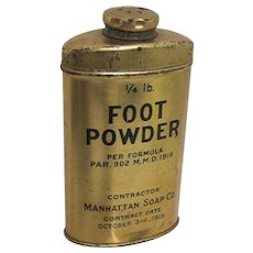 Foot Powder Advertising Pharmacy Tin Unopened