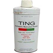 TING Foot Powder Drugstore Advertising Tin