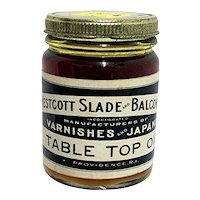 Glass Jar of Table Top Oil  Unopened MINT