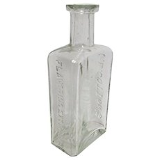 Drugstore Flavoring Extracts Glass Bottle C. L. Cotton