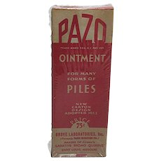 SOLD   PAZO Ointment Unopened MINT in Box