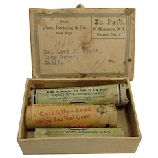 Pharmacy Original Mailing Box and Contents with Eli Lilly Remedies