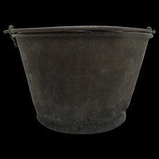 Brass Bucket or Pail Ansonia Brass Co. H. W. Haydens Patent