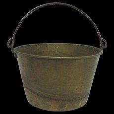 Brass Pail or Bucket  H. W. Haydens  Patent 1851