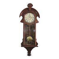 Antique Wall Clock New Haven Cambria