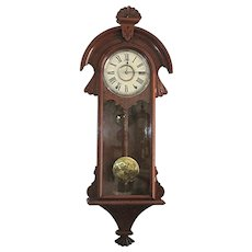 Antique Wall Clock New Haven Cambria