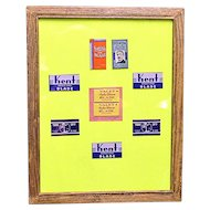 Framed Razor Blades in Original Wrapping Five Different  Brands