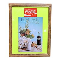 Advertising Coca Cola Pause for Living Summer 1969 Magazine Framed