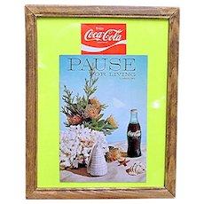 Coca Cola Pause for Living Summer 1969 Magazine Framed