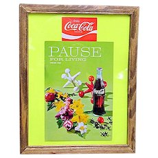 Advertising Coca Cola Pause for Living Spring 1968 Magazine Framed