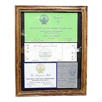 Framed Inaugural Event Tickets for 1973 and 1977 NOW 50% Off