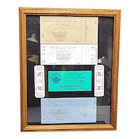 Framed for the Bipartisan Inaugural Event Tickets and Passes 1973 1977 1981 NOW 50% Off