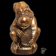 SOLD     See other banks for sale   Koko The Wise Cast Metal Still Bank