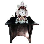 Antique Wall Shelf or Clock Shelf